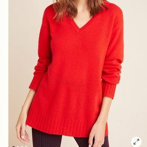 Anthropologie Colorblocked Cashmere Sweater Sz S